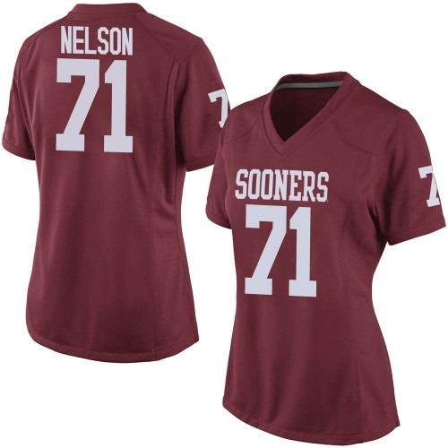 Women's Nike Noah Nelson Oklahoma Sooners Game Crimson Football College Jersey