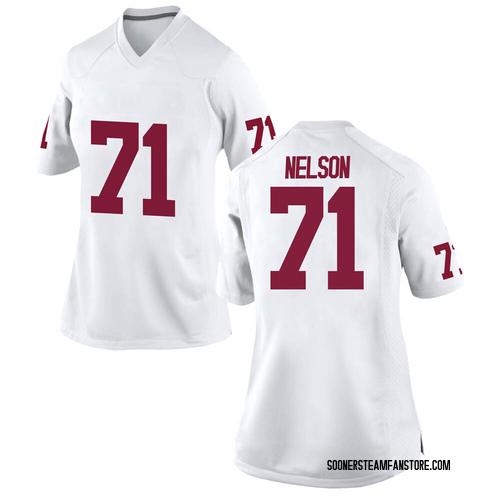 Women's Nike Noah Nelson Oklahoma Sooners Game White Football College Jersey