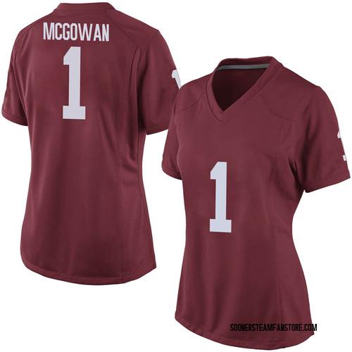 Women's Nike Seth McGowan Oklahoma Sooners Game Crimson Football College Jersey