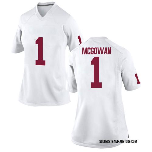 Women's Nike Seth McGowan Oklahoma Sooners Replica White Football College Jersey