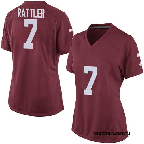 Women's Nike Spencer Rattler Oklahoma Sooners Game Crimson Football College Jersey