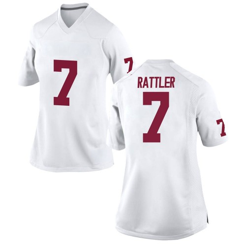 Women's Nike Spencer Rattler Oklahoma Sooners Game White Football College Jersey