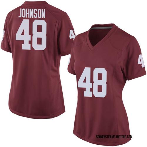 Women's Nike Stephen Johnson Oklahoma Sooners Game Crimson Football College Jersey
