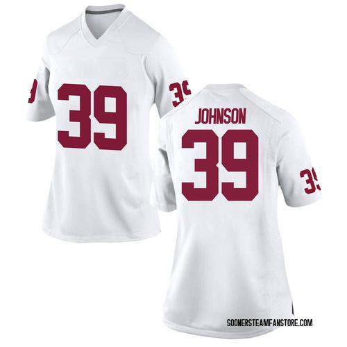 Women's Nike Stephen Johnson Oklahoma Sooners Game White Football College Jersey