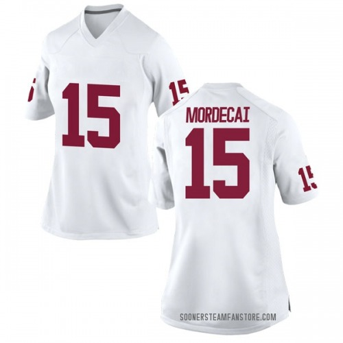 Women's Nike Tanner Mordecai Oklahoma Sooners Game White Football College Jersey
