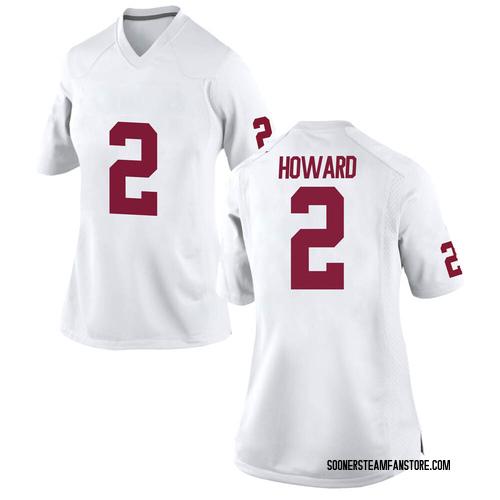 Women's Nike Theo Howard Oklahoma Sooners Game White Football College Jersey