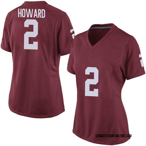Women's Nike Theo Howard Oklahoma Sooners Replica Crimson Football College Jersey