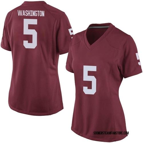 Women's Nike Woodi Washington Oklahoma Sooners Game Crimson Football College Jersey