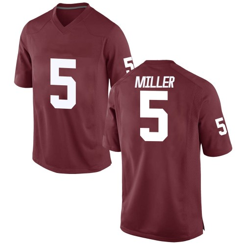 Youth A.D. Miller Oklahoma Sooners Game Crimson Football College Jersey