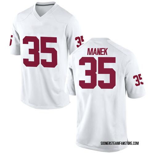 Youth Nike Brady Manek Oklahoma Sooners Game White Football College Jersey