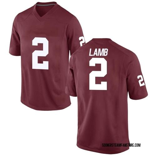 Youth CeeDee Lamb Oklahoma Sooners Game Crimson Football College Jersey