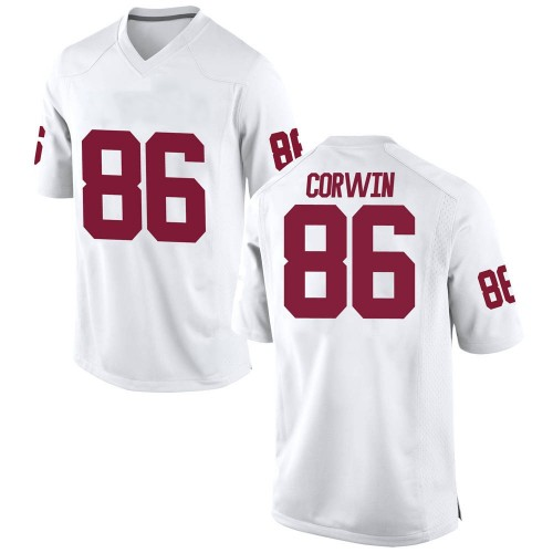 Youth Nike Finn Corwin Oklahoma Sooners Game White Football College Jersey