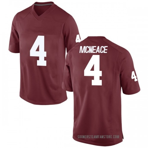 Youth Nike Jamuni McNeace Oklahoma Sooners Game Crimson Football College Jersey
