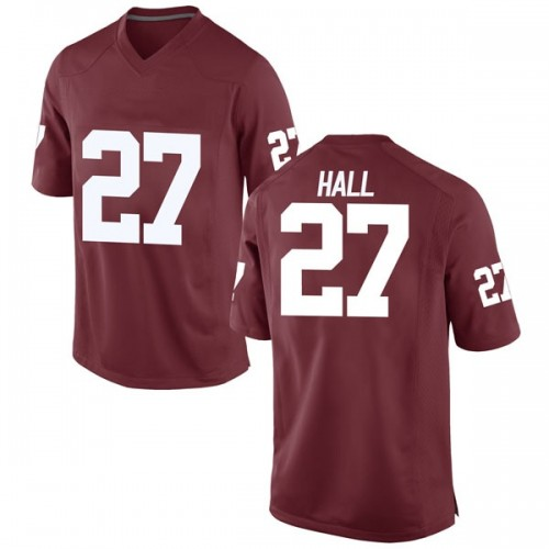 Youth Nike Jeremiah Hall Oklahoma Sooners Game Crimson Football College Jersey