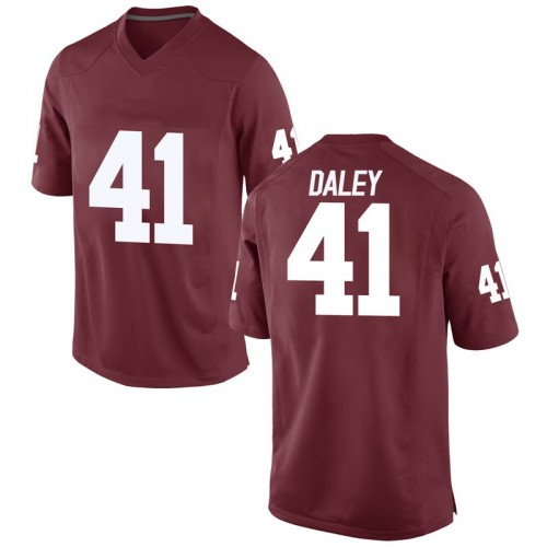 Youth Nike K'Jakyre Daley Oklahoma Sooners Game Crimson Football College Jersey