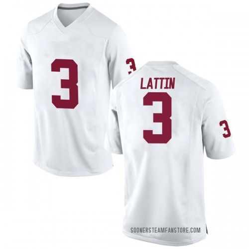 Youth Nike Khadeem Lattin Oklahoma Sooners Replica White Football College Jersey