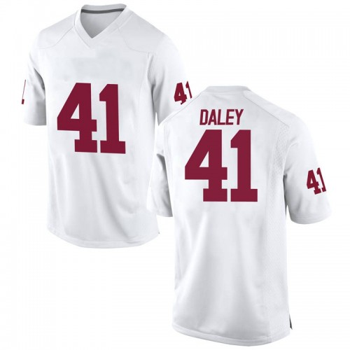 Youth Nike Kjakyre Daley Oklahoma Sooners Replica White Football College Jersey