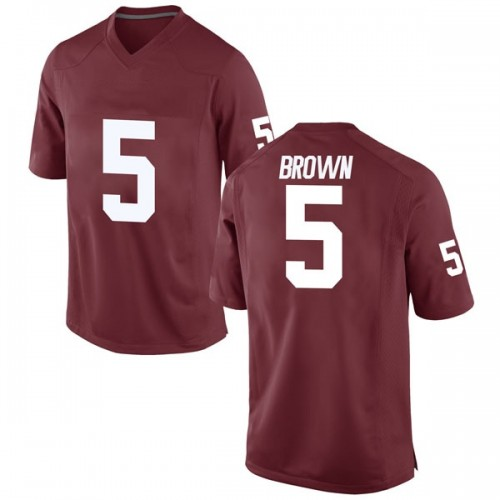 Youth Nike Marquise Brown Oklahoma Sooners Game Brown Crimson Football College Jersey