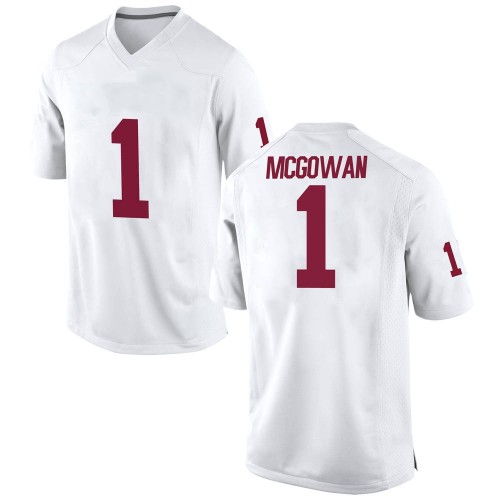 Youth Nike Seth McGowan Oklahoma Sooners Game White Football College Jersey