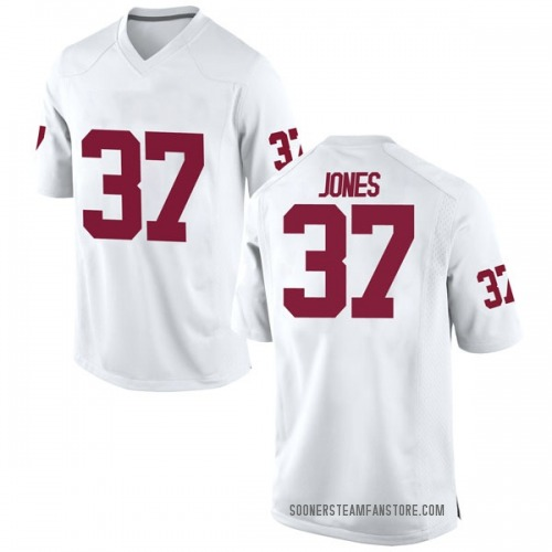 Youth Nike Spencer Jones Oklahoma Sooners Game White Football College Jersey