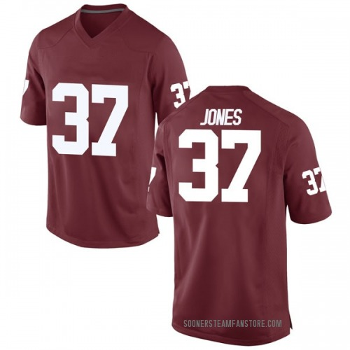 Youth Nike Spencer Jones Oklahoma Sooners Replica Crimson Football College Jersey