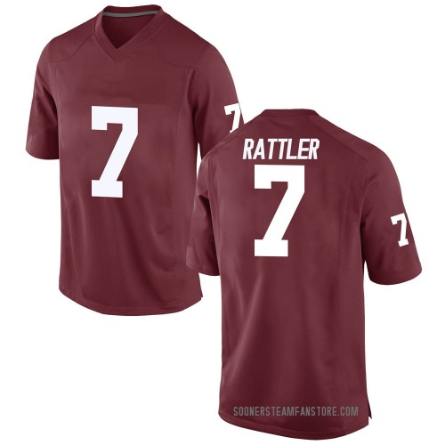 Youth Nike Spencer Rattler Oklahoma Sooners Game Crimson Football College Jersey