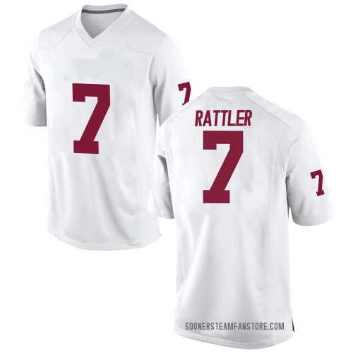 Youth Nike Spencer Rattler Oklahoma Sooners Game White Football College Jersey