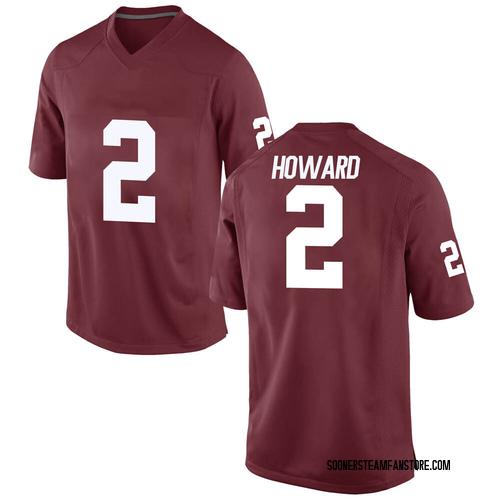 Youth Nike Theo Howard Oklahoma Sooners Replica Crimson Football College Jersey