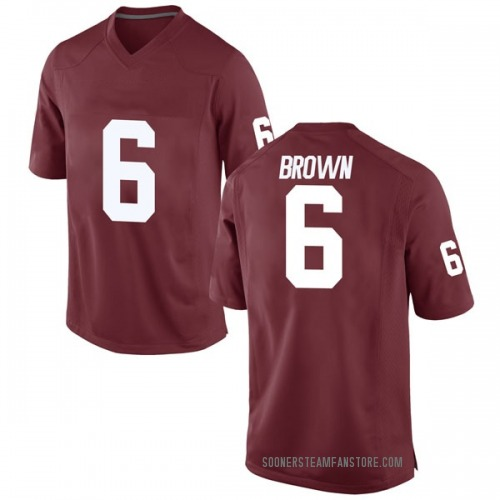 Youth Nike Tre Brown Oklahoma Sooners Game Brown Crimson Football College Jersey