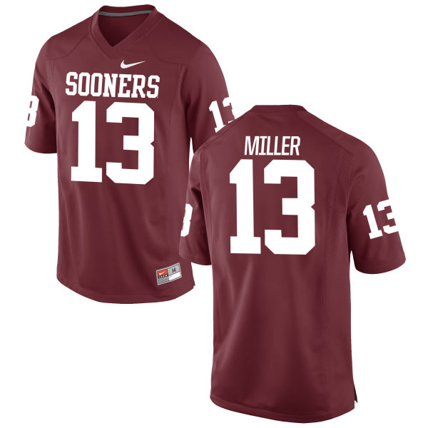 Men's Nike A.D. Miller Oklahoma Sooners Game Crimson Football Jersey