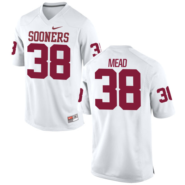 Men's Nike Bryan Mead Oklahoma Sooners Replica White Football Jersey