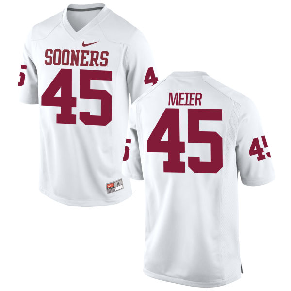 Youth Nike Carson Meier Oklahoma Sooners Game White Football Jersey