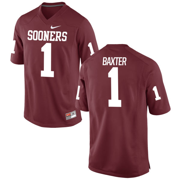 Men's Nike Jarvis Baxter Oklahoma Sooners Game Crimson Football Jersey