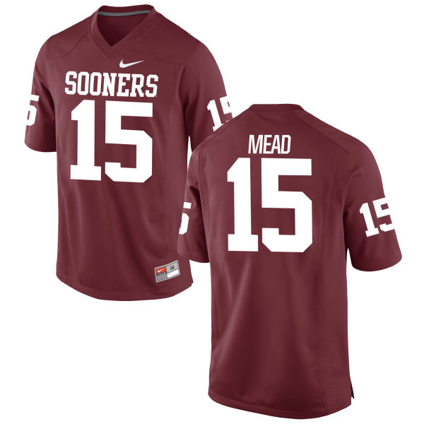 Men's Nike Jeffery Mead Oklahoma Sooners Game Crimson Football Jersey