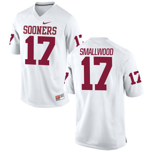 Youth Nike Jordan Smallwood Oklahoma Sooners Game White Football Jersey