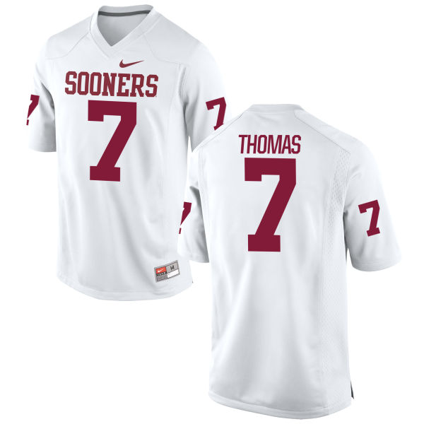 Men's Nike Jordan Thomas Oklahoma Sooners Replica White Football Jersey