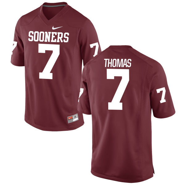 Men's Nike Jordan Thomas Oklahoma Sooners Game Crimson Football Jersey