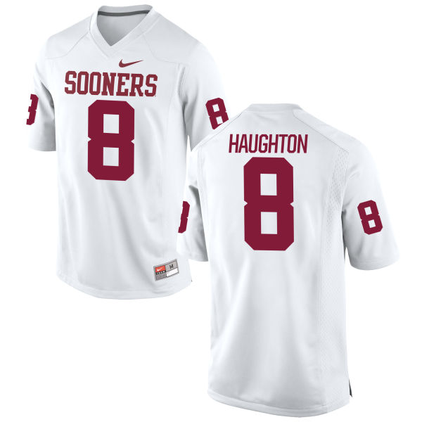 Youth Nike Kahlil Haughton Oklahoma Sooners Authentic White Football Jersey