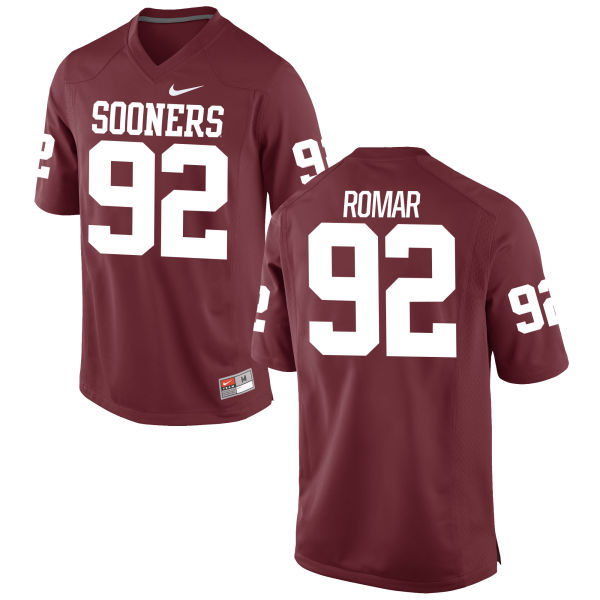Men's Nike Matt Romar Oklahoma Sooners Game Crimson Football Jersey