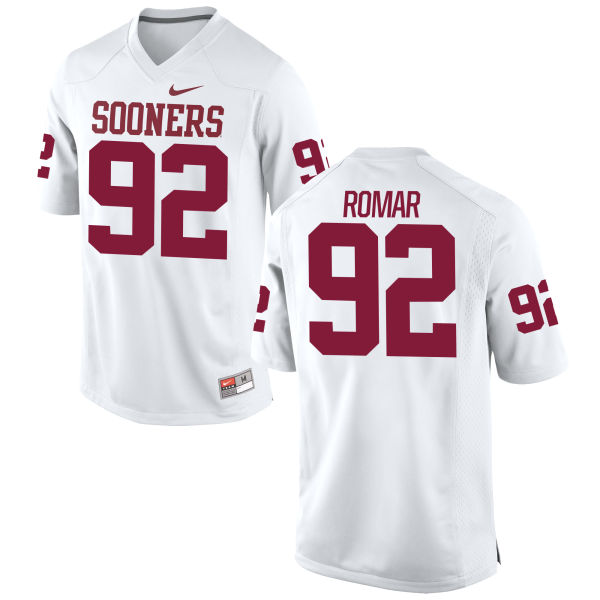 Men's Nike Matt Romar Oklahoma Sooners Game White Football Jersey