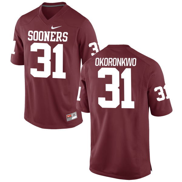 Men's Nike Ogbonnia Okoronkwo Oklahoma Sooners Authentic Crimson Football Jersey
