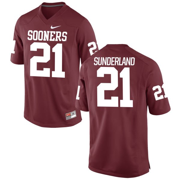 Men's Nike Will Sunderland Oklahoma Sooners Game Crimson Football Jersey
