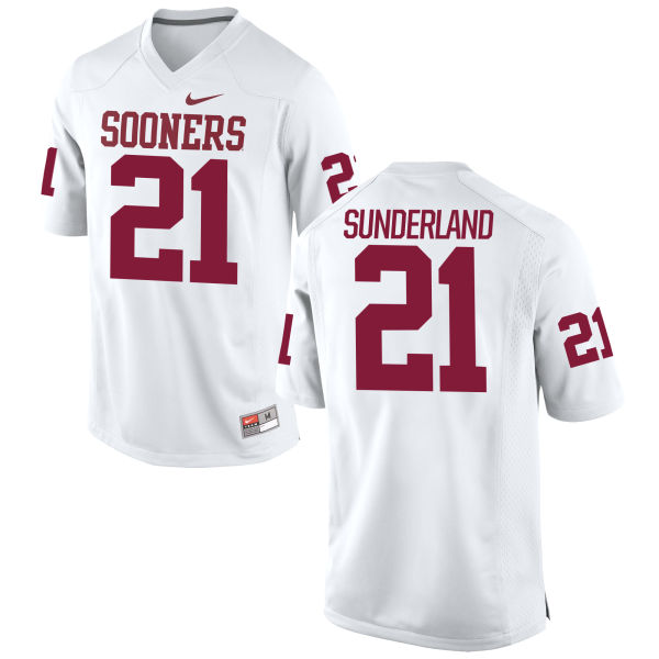 Youth Nike Will Sunderland Oklahoma Sooners Game White Football Jersey